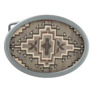 Navajo Blanket Design Belt Buckle