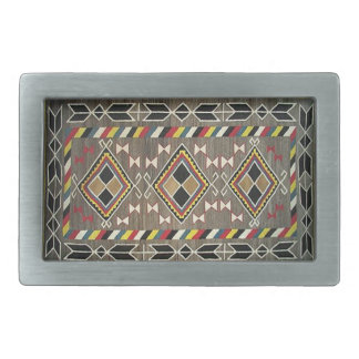 Navajo Blanket Native American Indians Belt Buckle