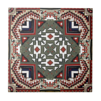 Navajo Blanket Native American Inspired Pattern Tile