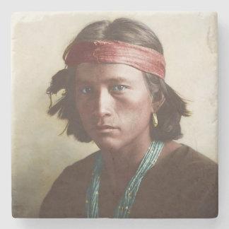 Navajo Boy 1907 Stone Coaster