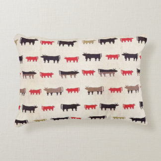 Navajo Charming Cow Pattern Accent Pillow