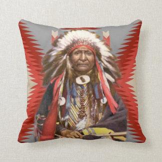 Navajo Chief Throw Pillow