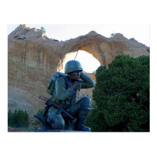 Navajo Code Talker (Window Rock) Postcard