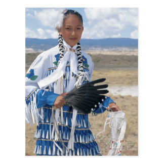 Navajo dancer postcard