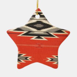 Navajo Designs Ceramic Star Decoration