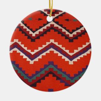 Navajo Designs Round Ceramic Decoration