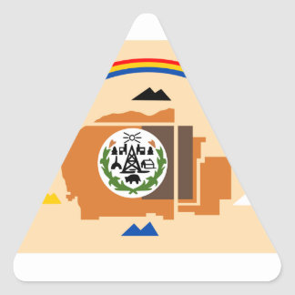 Navajo Flag Triangle Sticker