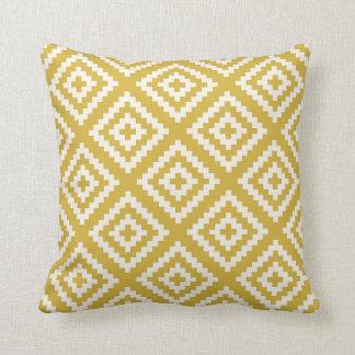 Navajo Gemetric Pattern in Mustard Yellow Cushion