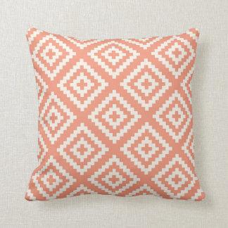 Navajo Gemetric Pattern Peach and Cream Cushion