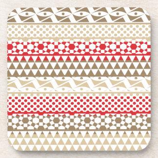 Navajo Geometric Aztec Andes Tribal Print Pattern Coasters