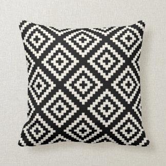 Navajo Geometric Black and Cream Pattern Cushion