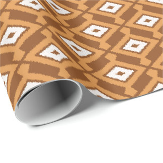 Navajo Ikat Pattern - Brown, Rust and Cream Wrapping Paper