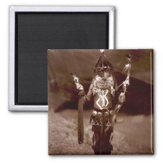 Navajo man in ceremonial dress magnet