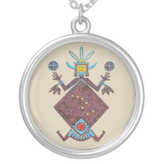 Navajo Mythology Silver Plated Necklace