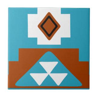 Navajo Native American Tribal Inspired Pattern Tile