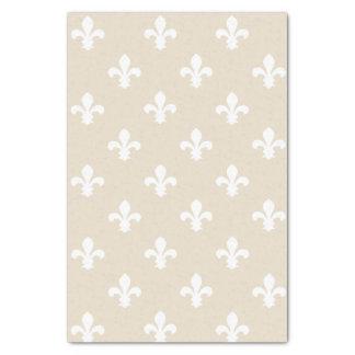 Navajo Neutral Fleur de Lys Tissue Paper