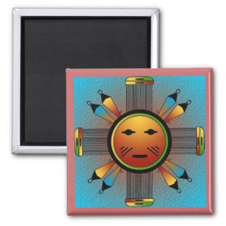Navajo Sun Face Square Magnet