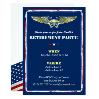 Naval Air Force Retirement Party Invitations