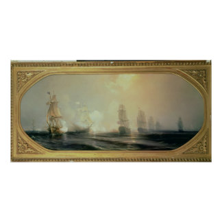Naval Battle in Chesapeake Bay Poster