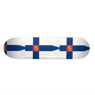 Naval Ensign Of Finland Grey Background, Finland Skateboard Decks