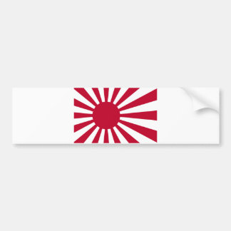 Naval Ensign of Japan - Japanese Rising Sun Flag Bumper Sticker