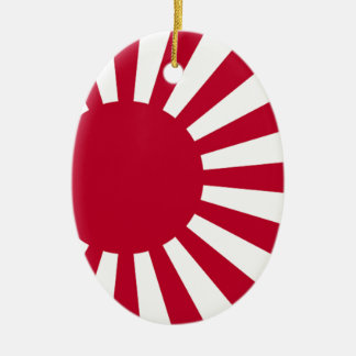 Naval Ensign of Japan - Japanese Rising Sun Flag Ceramic Ornament