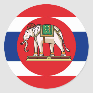 Naval Ensign Of Thailand, Thailand flag Round Stickers