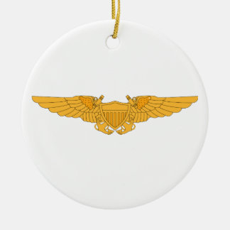 Naval Flight Officer Wings Ceramic Ornament