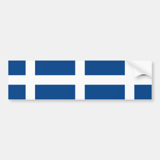 Naval Jack Of Greece Greece flag Bumper Stickers