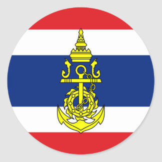 Naval Jack Of Thailand, Thailand Round Sticker