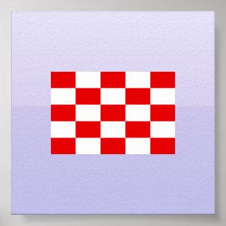 Naval Jack the Independent State Croatia, Croatia Posters