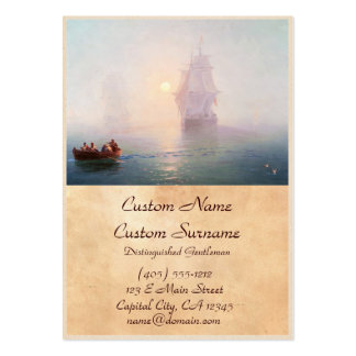 Naval Ship Ivan Aivazovsky seascape waterscape sea Pack Of Chubby Business Cards