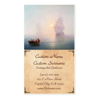 Naval Ship Ivan Aivazovsky seascape waterscape sea Pack Of Standard Business Cards