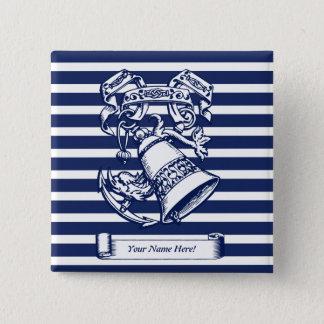 Naval style 15 cm square badge