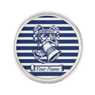 Naval style lapel pin