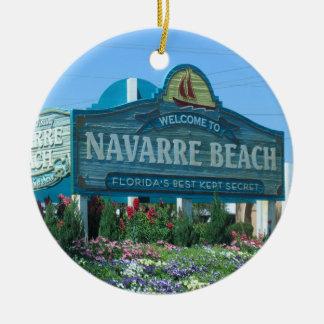 Navarre Beach Florida welcome sign Ceramic Ornament