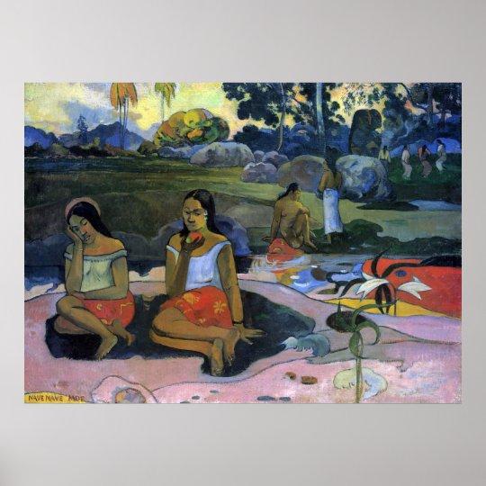 Nave Nave Moe by Eugène Henri Paul Gauguin Poster
