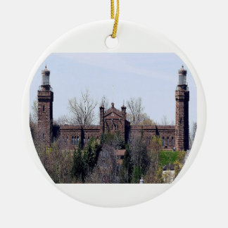 Navesink Twin Lights Lighthouse Ceramic Ornament