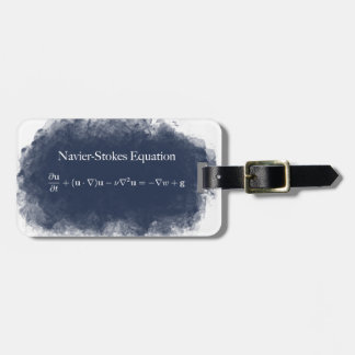 Navier Stokes Equation Math & Science Luggage Tag