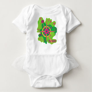 Navigation - green baby bodysuit