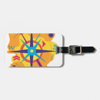 Navigation - orange luggage tag