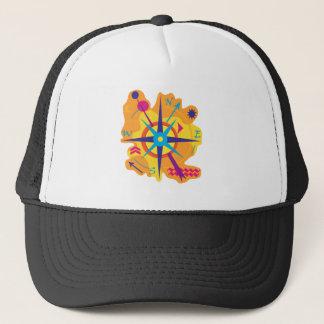 Navigation - orange trucker hat