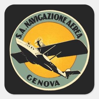 Navigazione Aerea ~ Genova Square Sticker