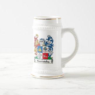Navrotsky Family Crest 18 Oz Beer Stein