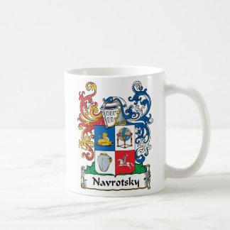 Navrotsky Family Crest Classic White Coffee Mug
