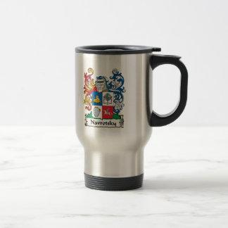 Navrotsky Family Crest Stainless Steel Travel Mug