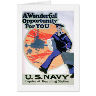 Navy - A Wonderful Opportunity (US02294) Greeting Card