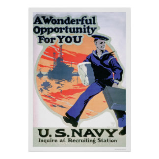 Navy - A Wonderful Opportunity (US02294) Poster