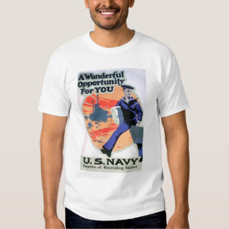 Navy - A Wonderful Opportunity (US02294) T Shirt