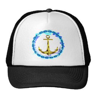 navy anchor and chain cap